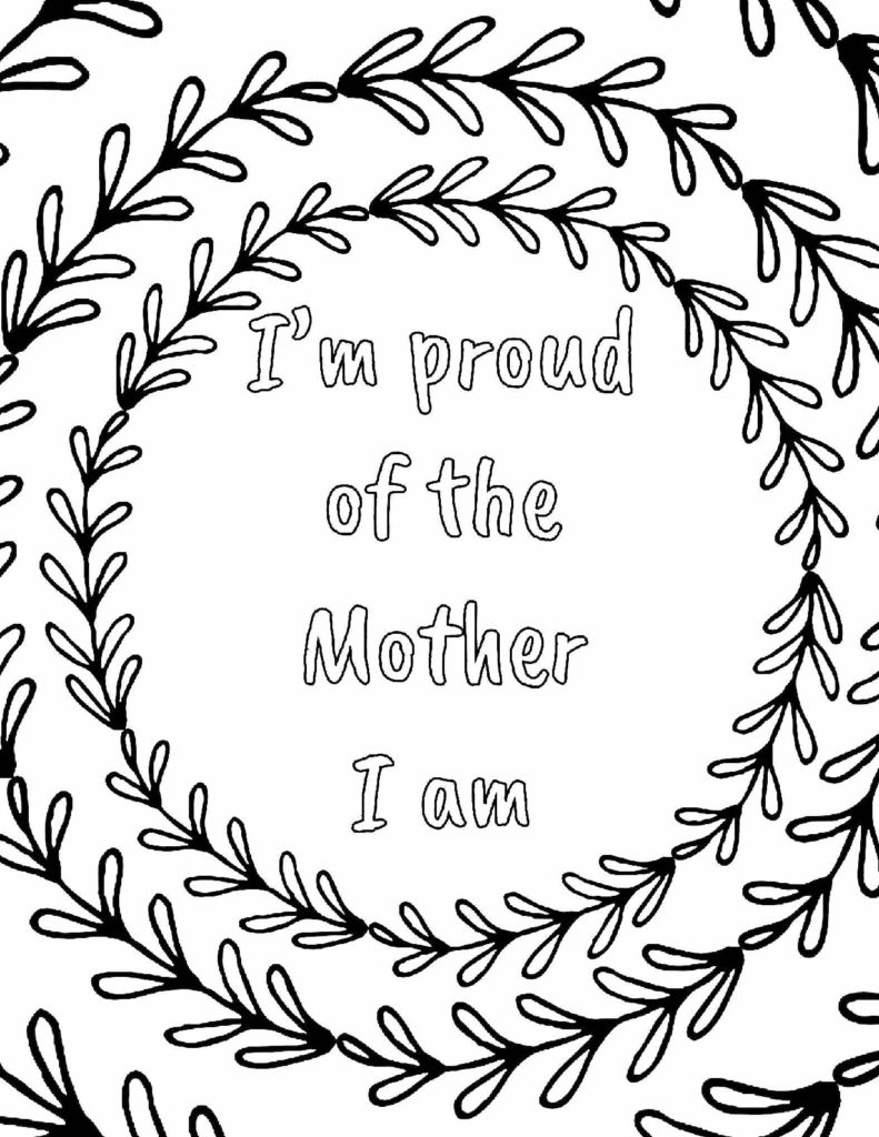 I'm proud of the mother